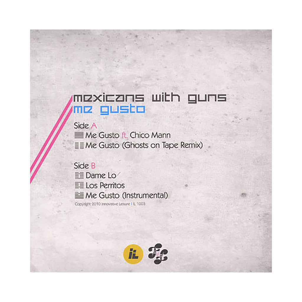 "Mexicans With Guns - 'Me Gusto/ Me Gusto (Remix)/ Dame Lo/ Los Perritos' [(Black) 12"" Vinyl Single]"