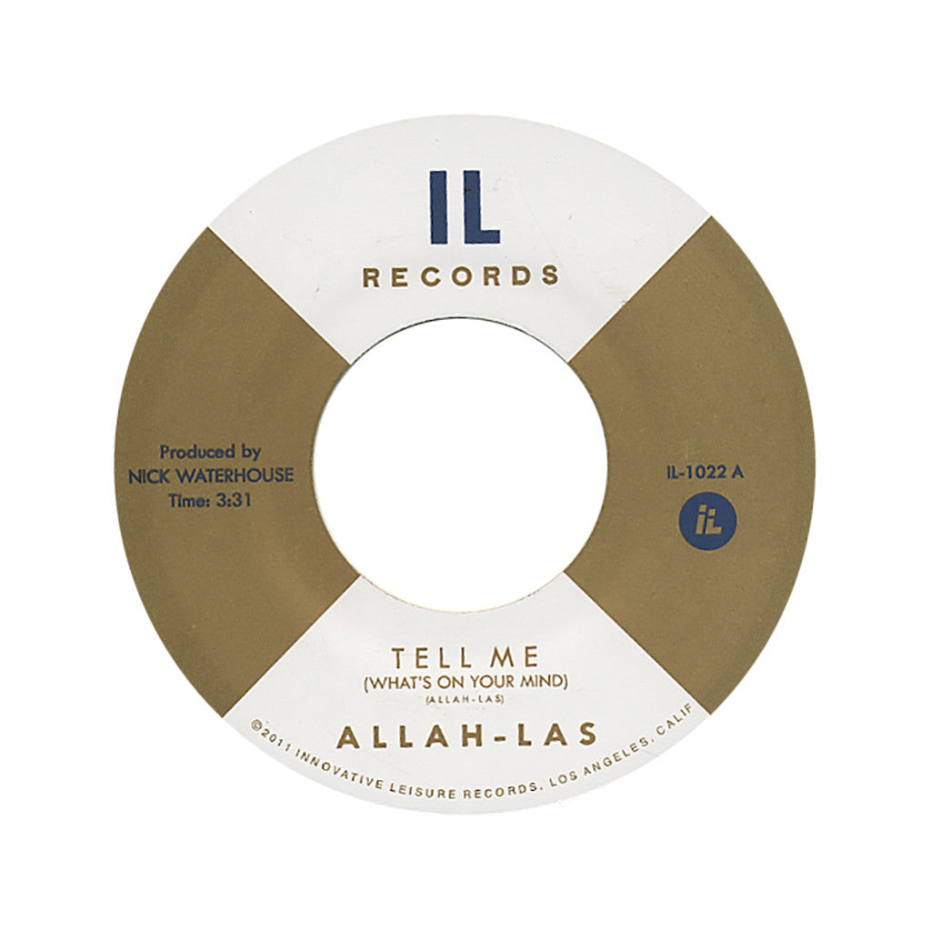 "<!--020120417043373-->Allah-Las - 'Tell Me (What's On Your Mind)/ Sacred Sands' [(Black) 7"" Vinyl Single]"