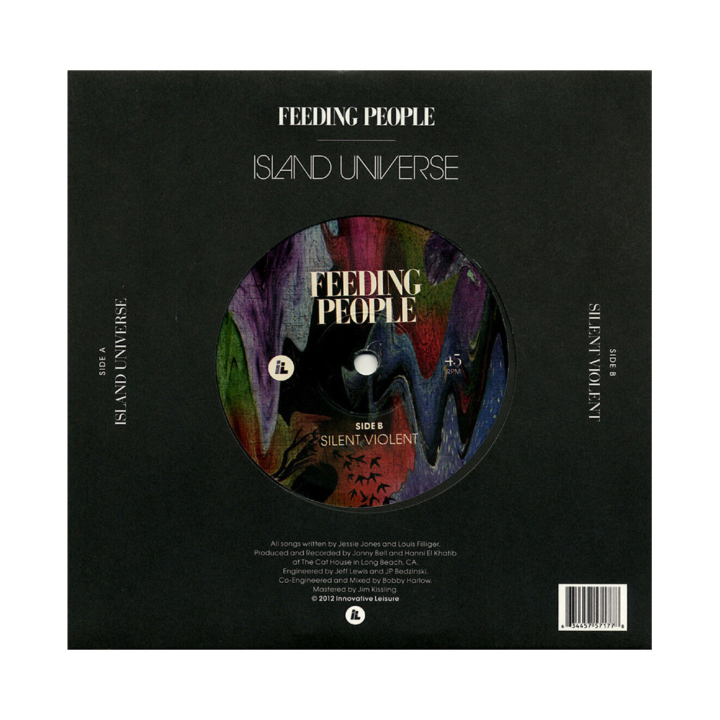 "<!--020120904047902-->Feeding People - 'Island Universe/ Silent Violent' [(Black) 7"" Vinyl Single]"