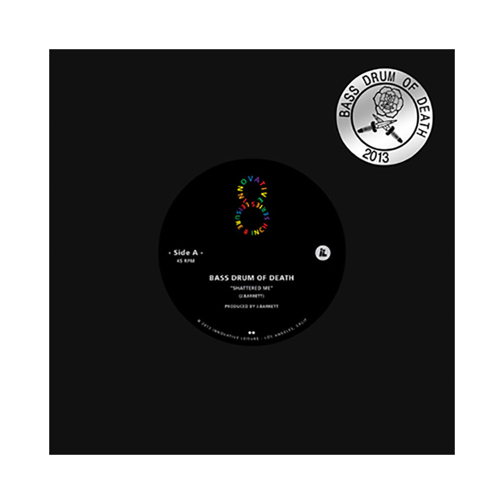"Bass Drum Of Death - 'Shattered Me/ Crawling After You (INNOV8 8"" VINYL SERIES)' [(Black) 8"" Vinyl Single]"