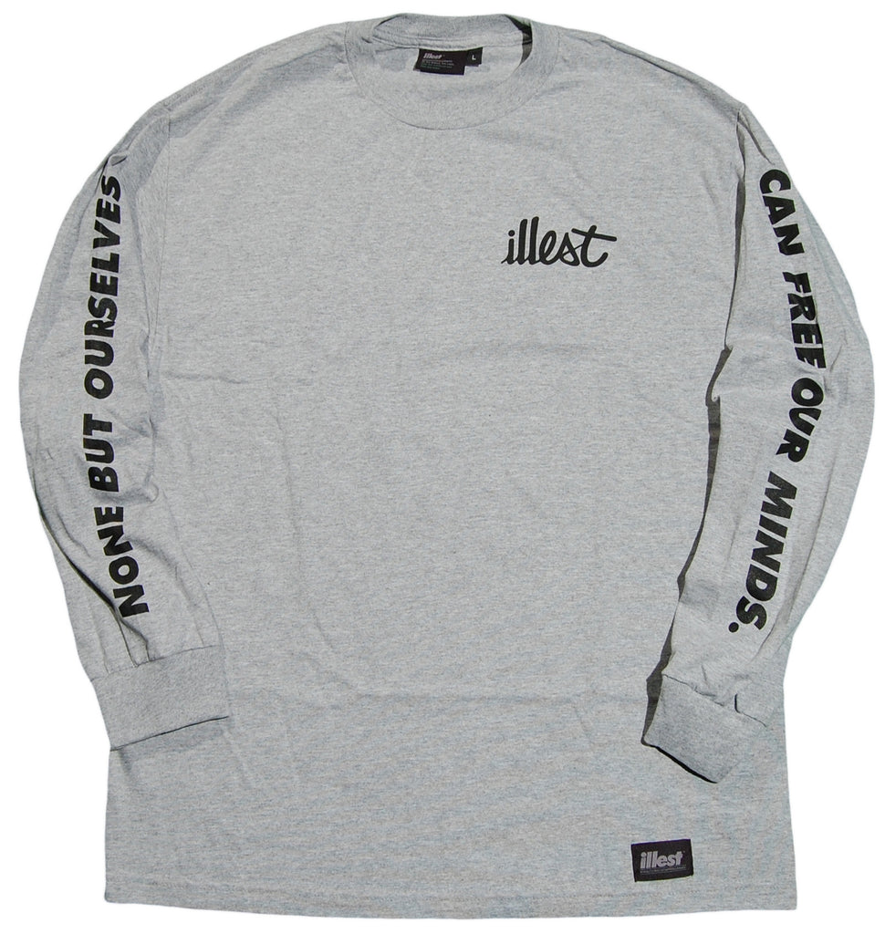 <!--2012101644-->illest - 'Remix Logo' [(Gray) Long Sleeve Shirt]