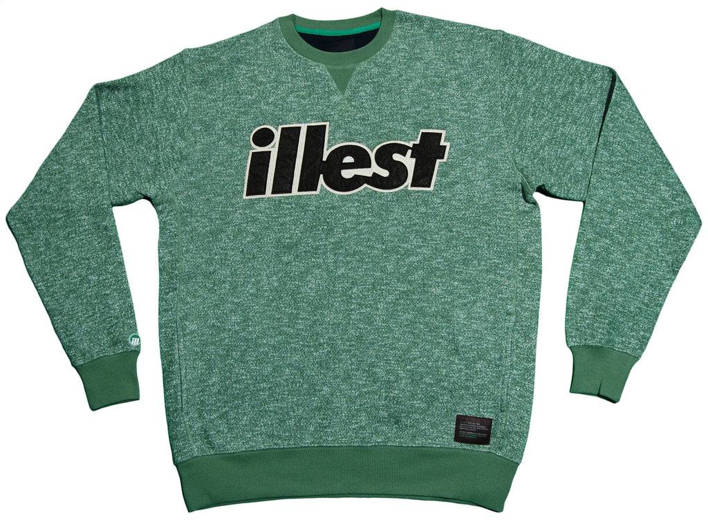 <!--2012121819-->illest - 'Bold Crew - Speckled' [(Green) Crewneck Sweatshirt]
