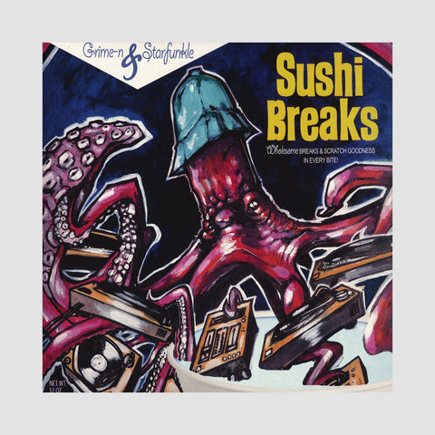 "[""Grime-n & Starfunkle - 'Sushi Breaks' [(Black) 7\"" Vinyl Single]""]"