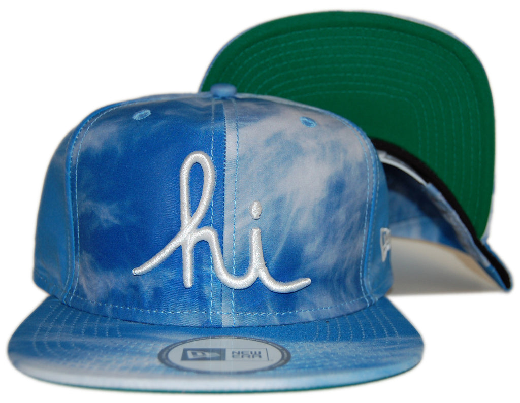 <!--020120612045773-->In4mation - 'Aya - Blue Clouds' [(Blue) Snap Back Hat]