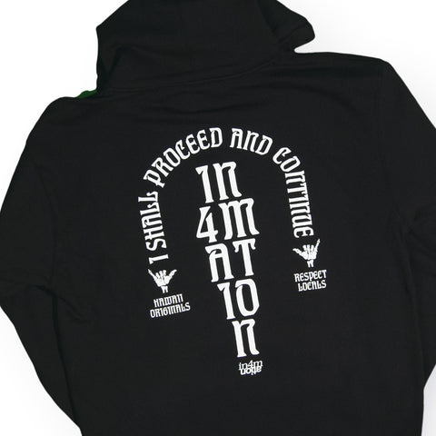 In4mation - 'Glyphics' [(Black) Hooded Sweatshirt]