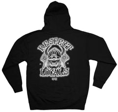 <!--2013060422-->In4mation - 'Respect Locals II' [(Black) Hooded Sweatshirt]