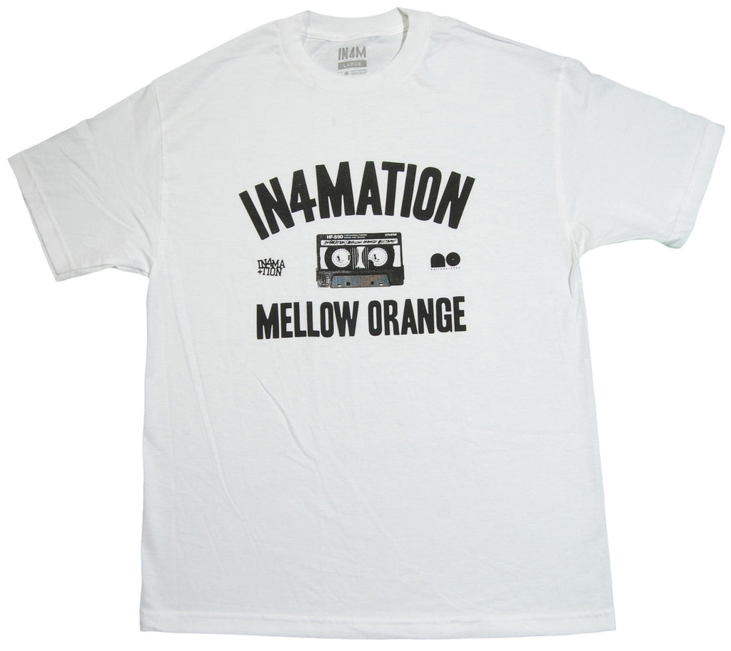 <!--2012120454-->In4mation x Mellow Orange - 'Collab' [(White) T-Shirt]