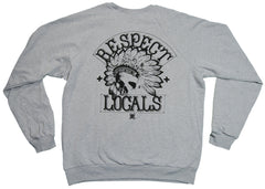 <!--2012120426-->In4mation - 'Respect Locals' [(Gray) Crewneck Sweatshirt]