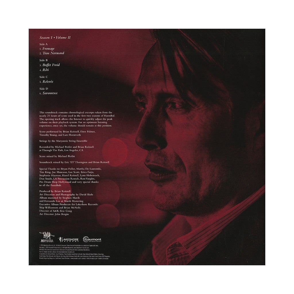 Brian Reitzell - 'Hannibal - Season 1, Vol. 2 (Original Television Soundtrack) (Special Edition)' [(Amarone Grape) Vinyl [2LP]]