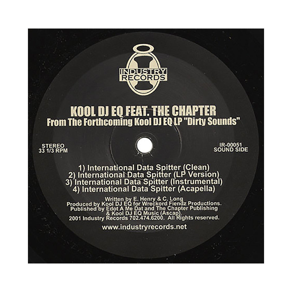 "<!--020010327002614-->Kool DJ EQ - 'Words & Phrases/ International Data Spitter' [(Black) 12"" Vinyl Single]"