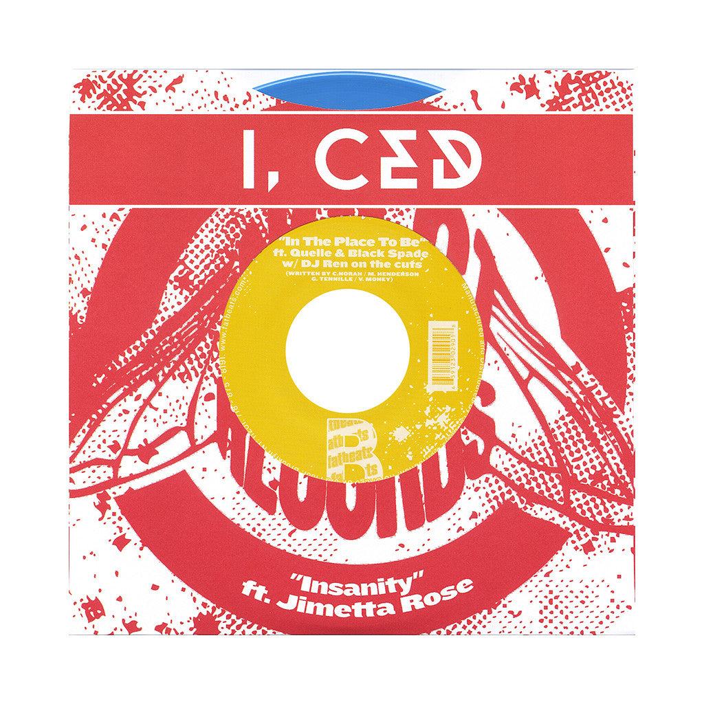 "<!--120130423053114-->I, Ced - 'Insanity/ In The Place To Be' [(Blue) 7"" Vinyl Single]"