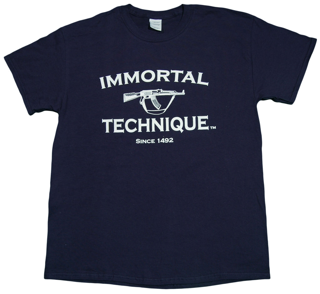 <!--2013021210-->Immortal Technique - 'Since 1492' [(Dark Blue) T-Shirt]