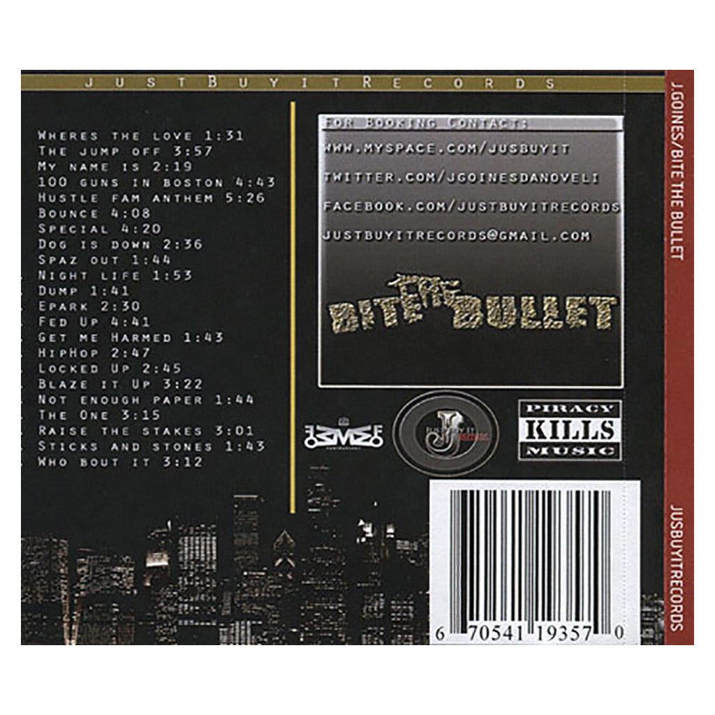 J. Goines - 'Bite The Bullet' [CD]