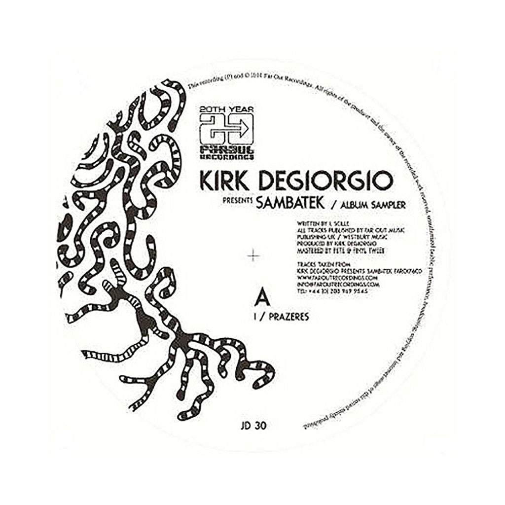 "<!--120140603063496-->Kirk Degiorgio Presents - 'Sambatek: Album Sampler' [(Black) 12"" Vinyl Single]"