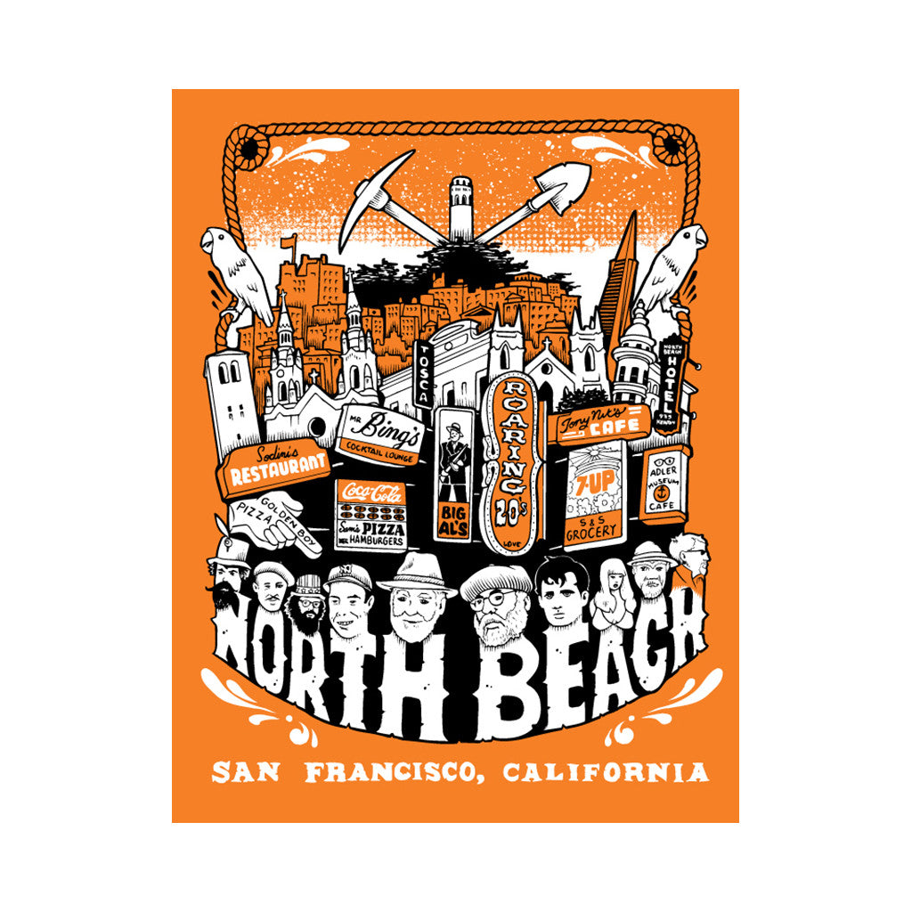 <!--020120110039839-->superFishal - 'Welcome To North Beach' [Posters & Prints]