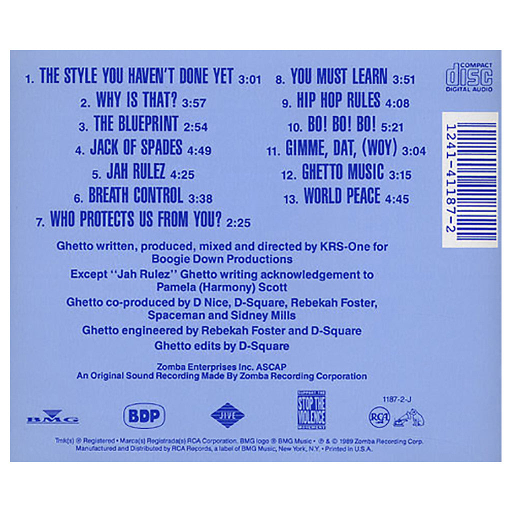 Boogie down productions ghetto music the blueprint of hip hop cd boogie down productions ghetto music the blueprint of hip hop cd malvernweather