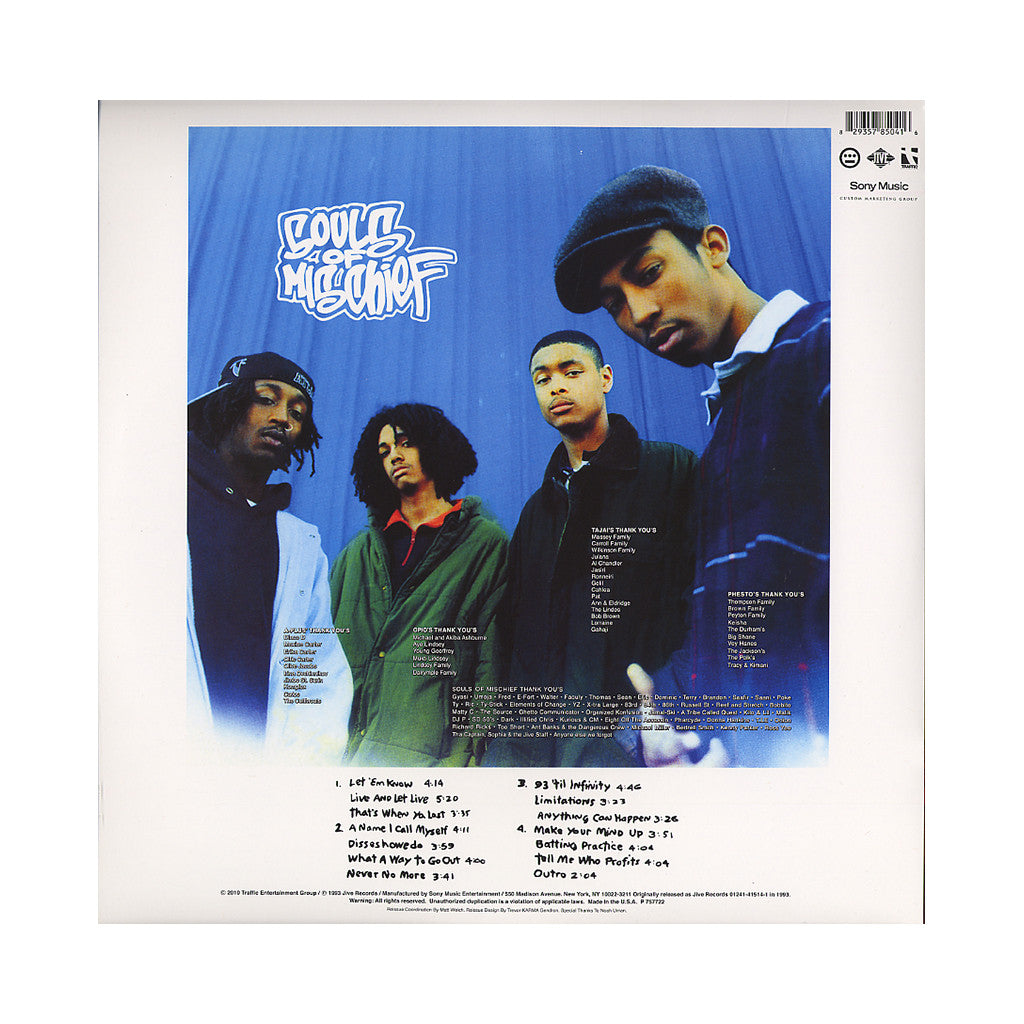 <!--120100209019700-->Souls Of Mischief - '93 'Til Infinity' [(Black) Vinyl [2LP]]
