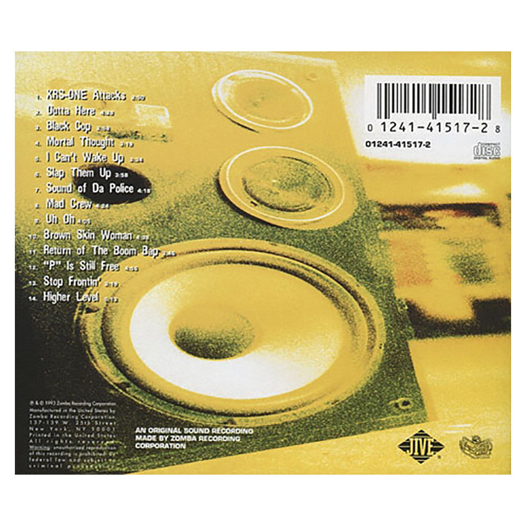 <!--019930928012013-->KRS-One - 'Return Of The Boom Bap' [CD]