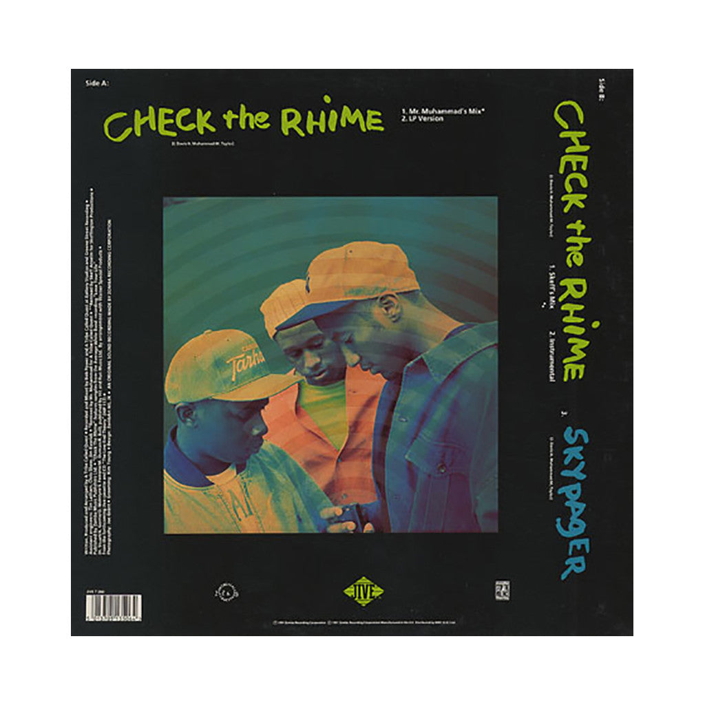 "A Tribe Called Quest - 'Check The Rhime (Remixes)/ Check The Rhime/ Skypager' [(Black) 12"" Vinyl Single]"