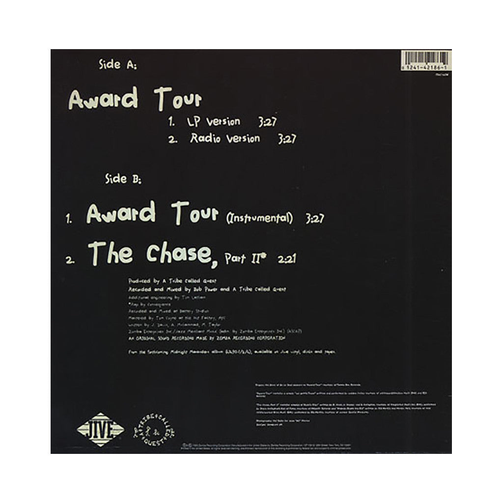 "<!--019930101012615-->A Tribe Called Quest - 'Award Tour/ The Chase, Part II' [(Black) 12"" Vinyl Single]"