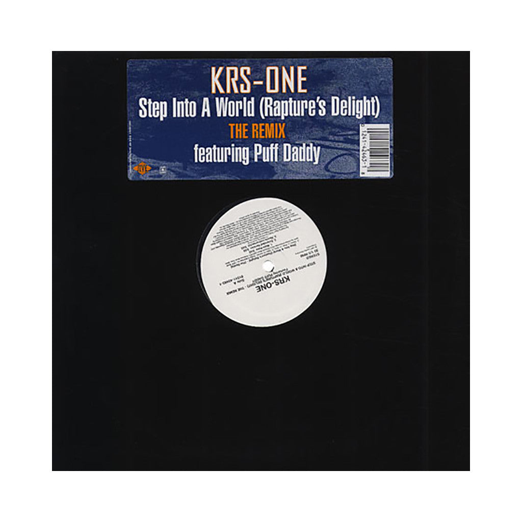 "KRS-One - 'Step Into A World (Rapture's Delight) (Remix)/ Step Into A World (Rapture's Delight)' [(Black) 12"" Vinyl Single]"