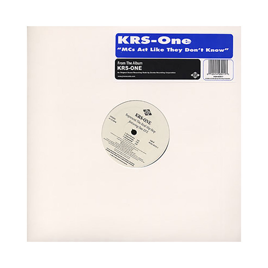 "<!--019951107016726-->KRS-One - 'MC's Act Like They Don't Know/ Represent The Real Hip Hop' [(Black) 12"" Vinyl Single]"