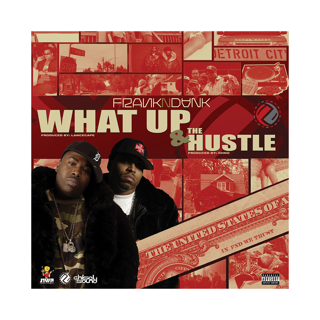 "Frank-N-Dank - 'What Up/ What Up (Remix)/ The Hustle' [(Black) 12"" Vinyl Single]"