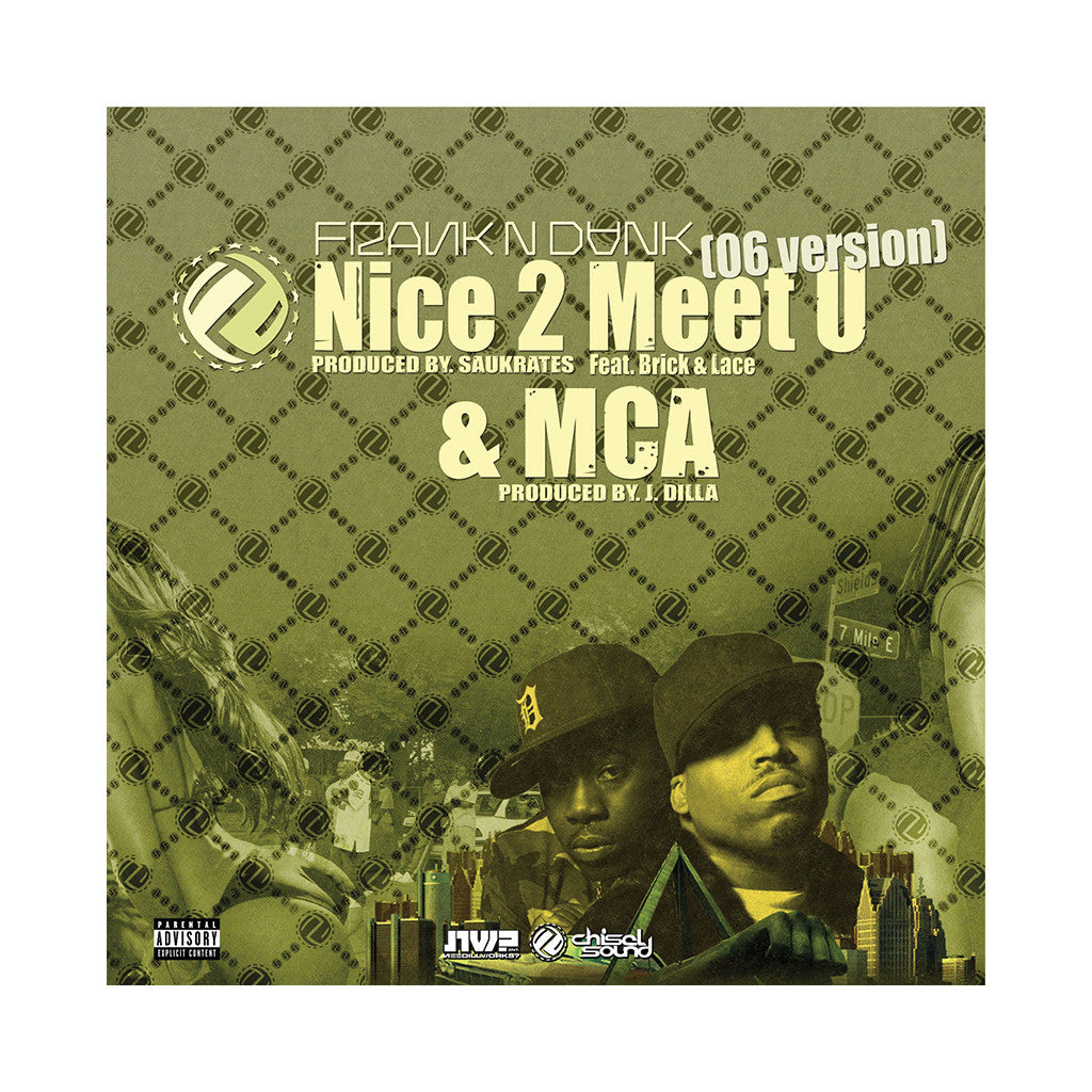 "<!--120061024008518-->Frank-N-Dank - 'Nice 2 Meet U ('06 Version)/ MCA/ Nice 2 Meet U' [(Black) 12"""" Vinyl Single]"