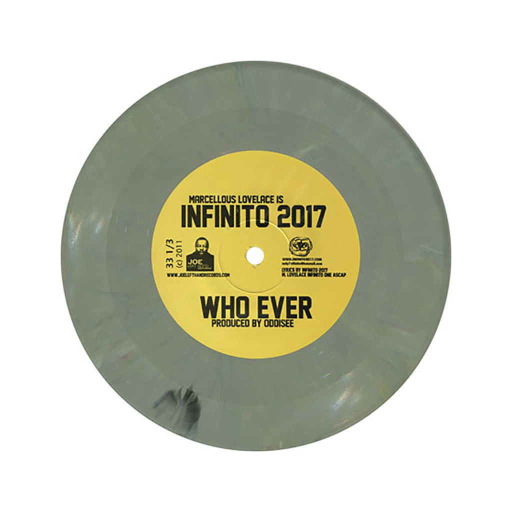 "<!--020111018036870-->Infinito:2017 - 'Who Ever/ We Gone Stay Up/ Cold Flow' [(Olive Marble) 7"" Vinyl Single]"
