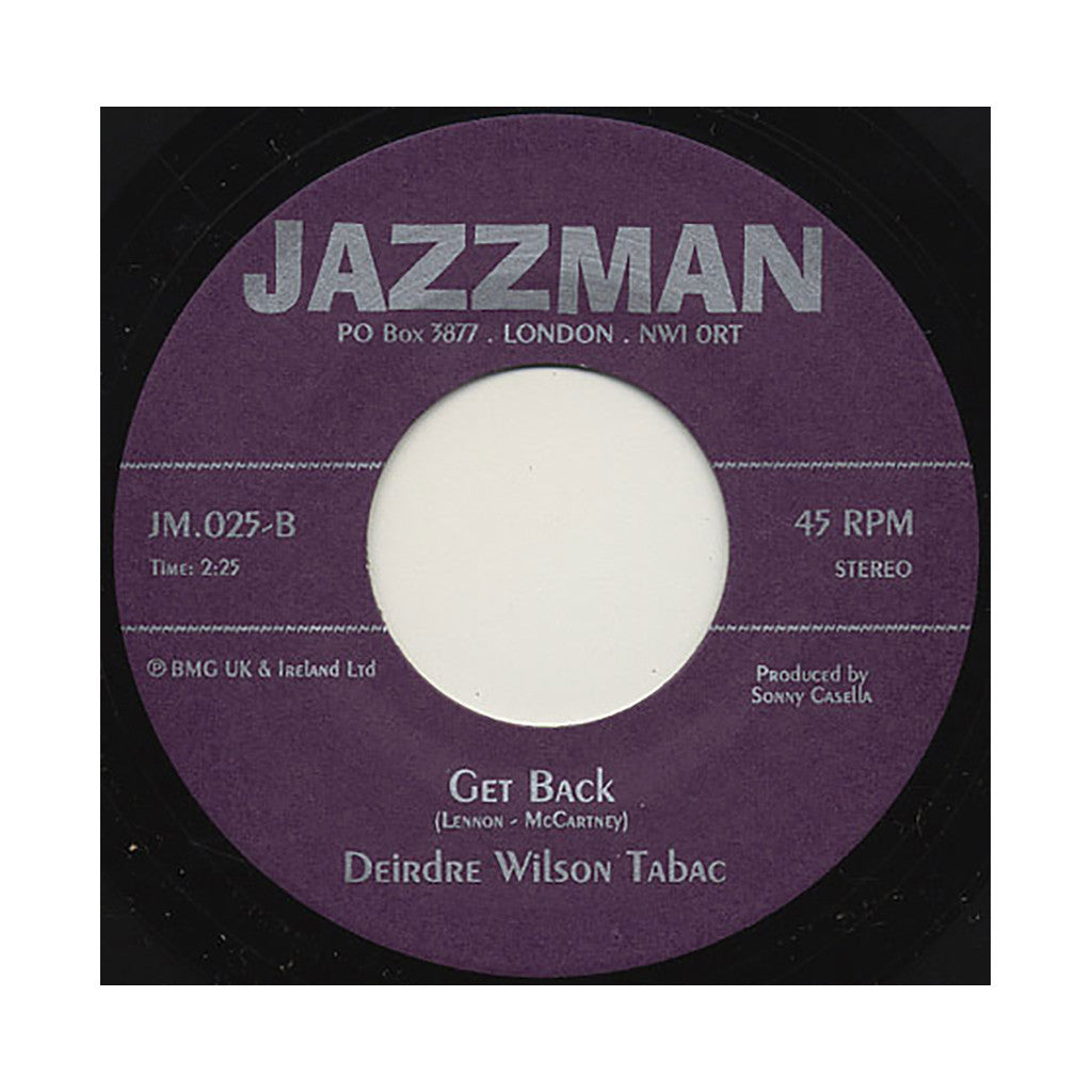 "<!--019000101017422-->Deidre Wilson Tabac - 'I Can't Keep From Crying Sometimes/ Get Back' [(Black) 7"" Vinyl Single]"