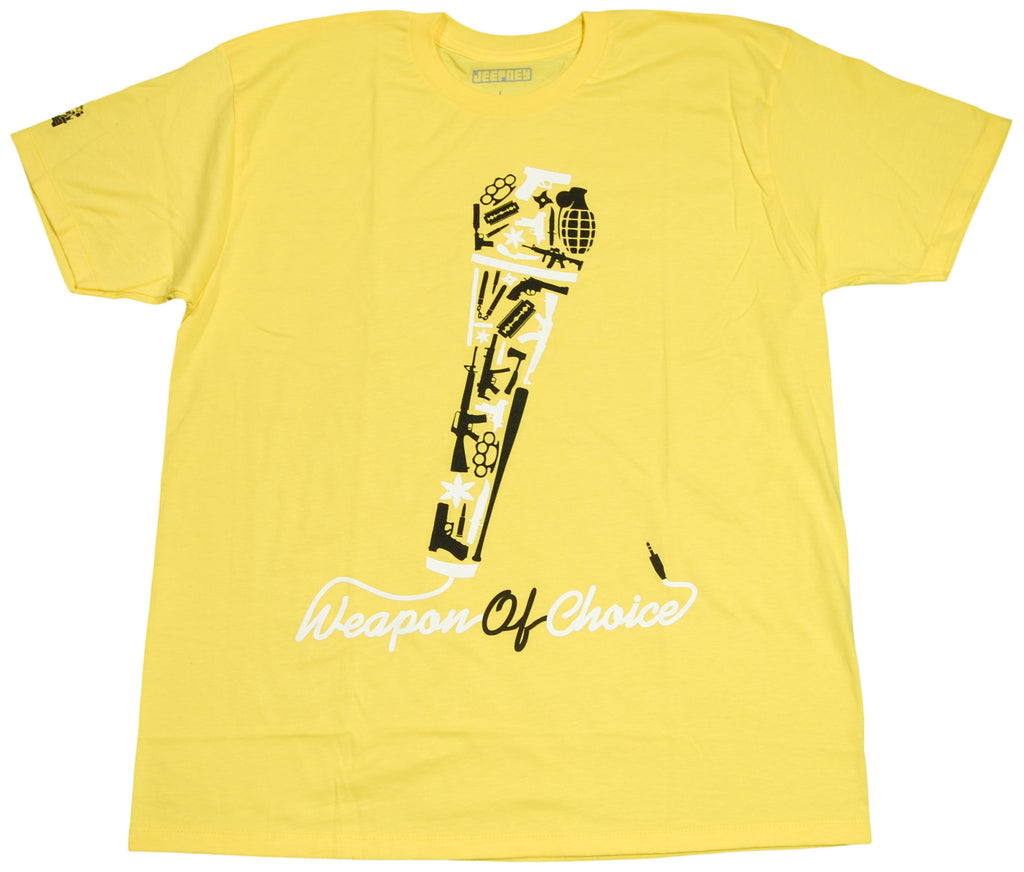 <!--2011041958-->Jeepney - 'Weapon Of Choice' [(Yellow) T-Shirt]