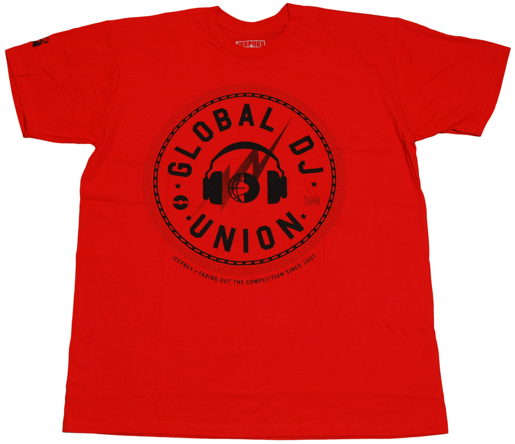<!--2011041941-->Jeepney - 'Global DJ Union' [(Red) T-Shirt]
