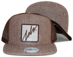 <!--020120724047391-->JSLV - 'Squared Patch' [(Brown) Snap Back Hat]