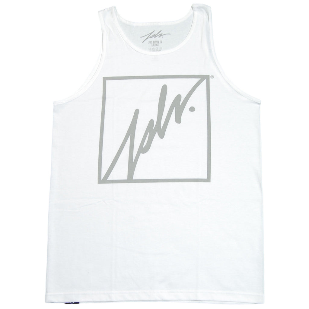 <!--2012072413-->JSLV - 'Squared Outline' [(White) Tank Top]