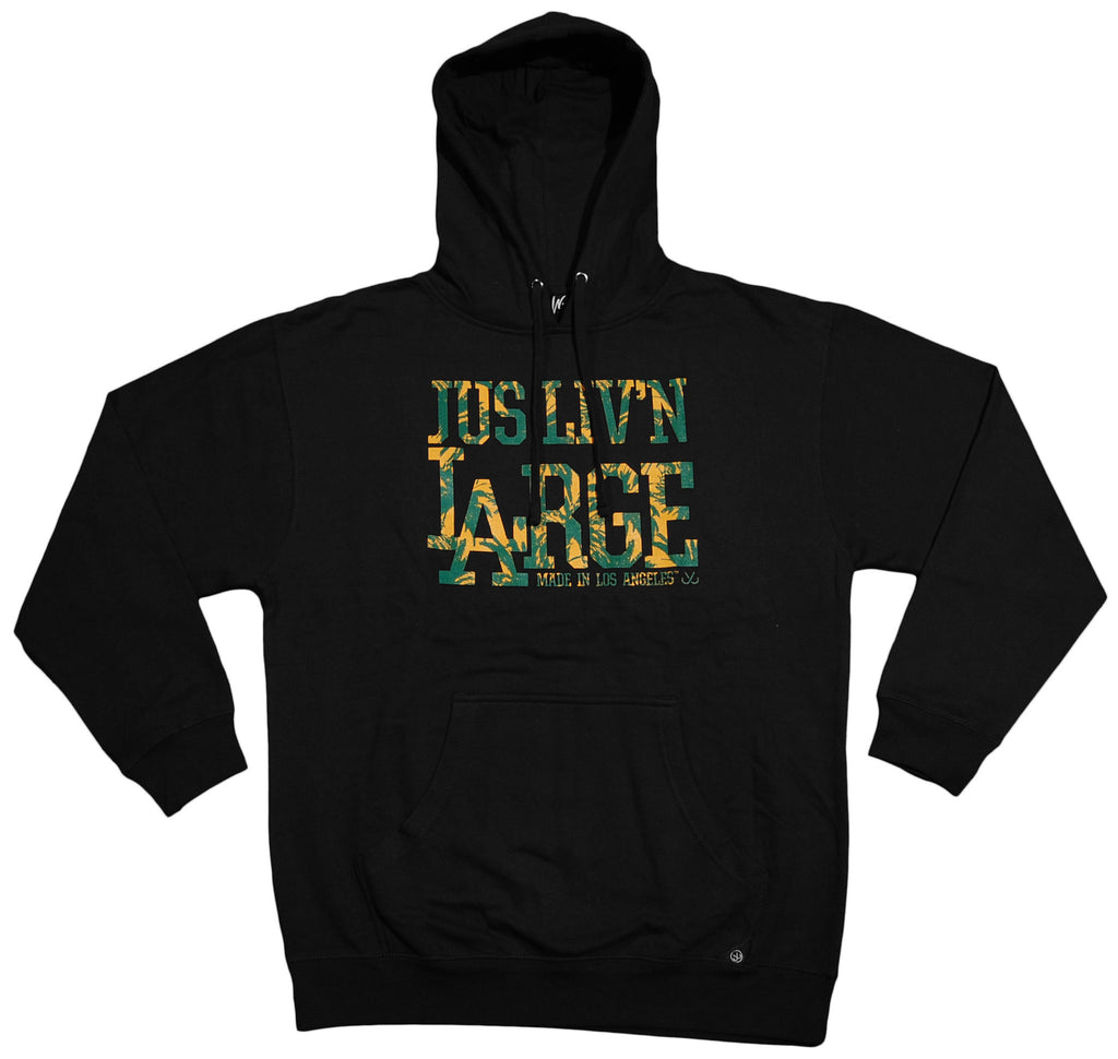 <!--2013020553-->JSLV - 'Liv'n Large Palms' [(Black) Hooded Sweatshirt]