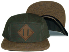 <!--020131022060649-->JSLV - 'Explorer' [(Dark Green) Five Panel Camper Hat]