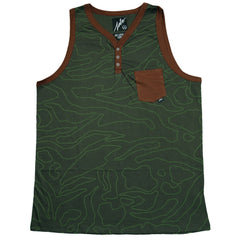 <!--2013070238-->JSLV - 'Explorer Henley' [(Dark Green) Tank Top]