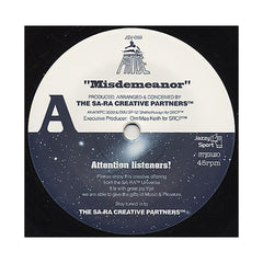 "Sa-Ra Creative Partners b/w Budamunky - 'Misdemeanor b/w What I Need' [(Black) 7"" Vinyl Single]"