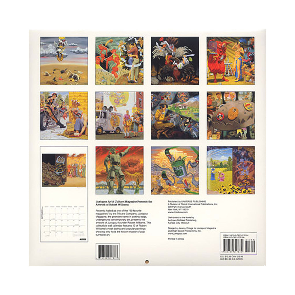 <!--020090106015756-->Robert Williams - 'Juxtapoz Art & Culture Magazine Calender - 2009' [Calendar]