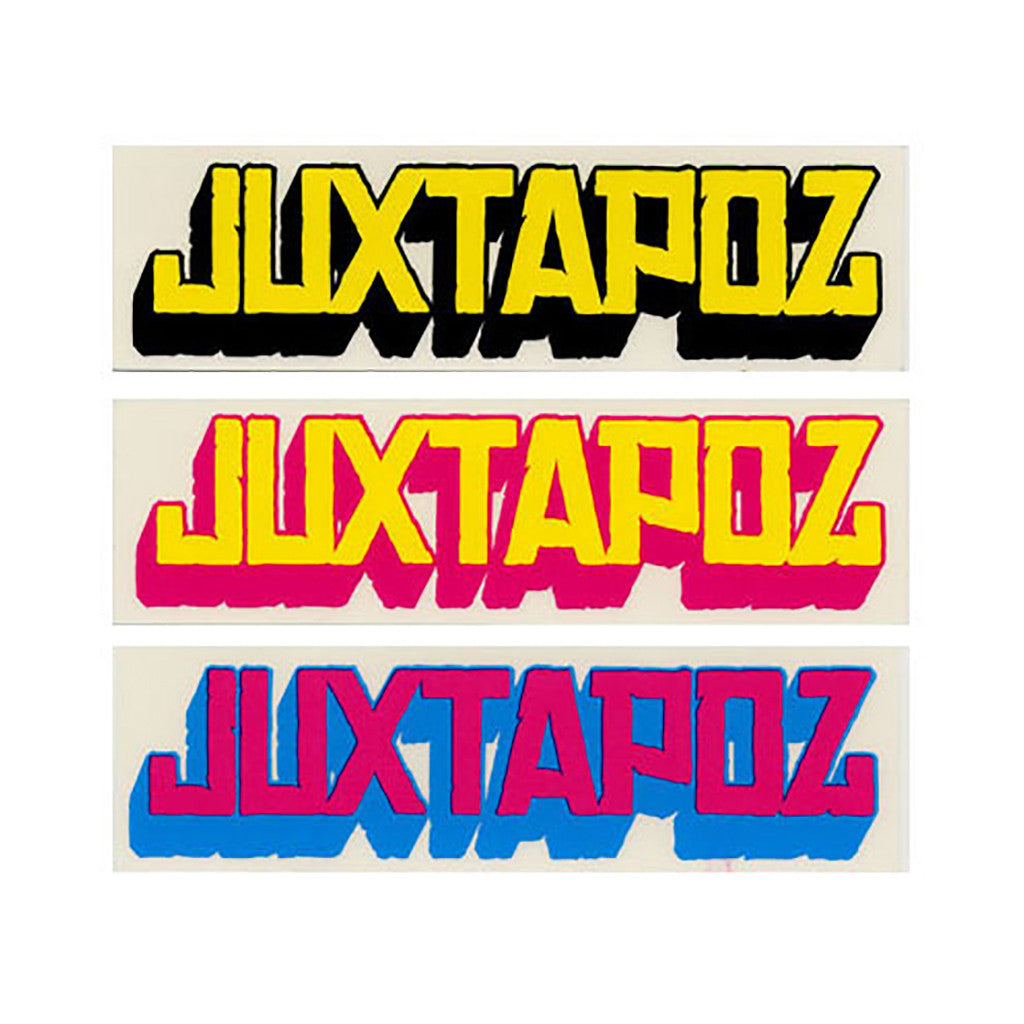 <!--020090224016257-->Juxtapoz Art & Culture Magazine - '3D Logo (X 3)' [Sticker]