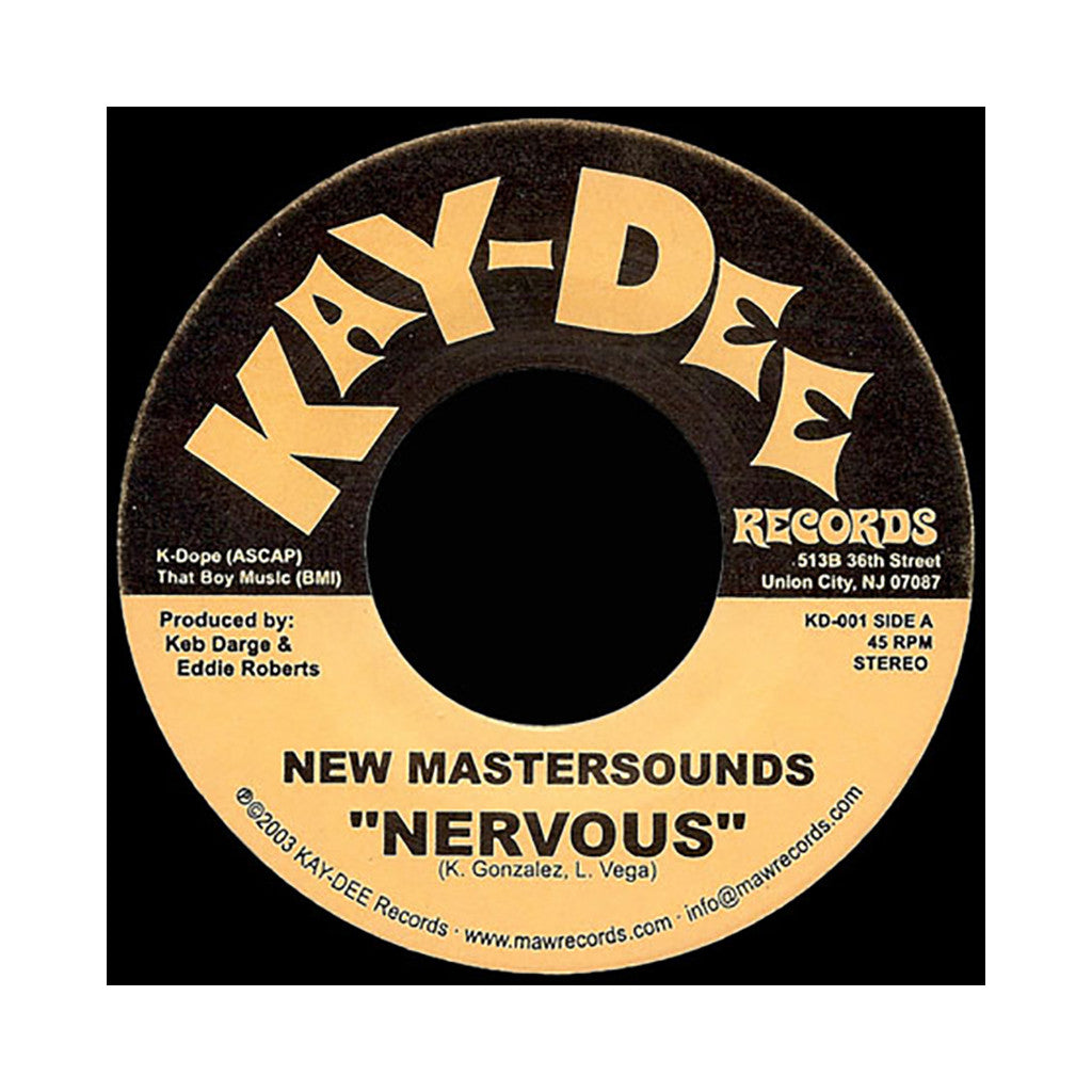 "<!--2003010154-->The New Mastersounds - 'Nervous' [(Black) 7"" Vinyl Single]"