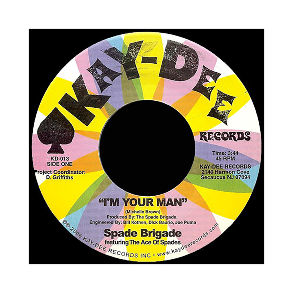 "Spade Brigade - 'I'm Your Man/ (Makin Love) In The Morning' [(Black) 7"" Vinyl Single]"
