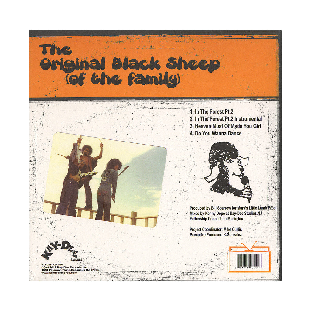 "<!--020120710001837-->Original Black Sheep Of The Family - 'In The Forest Pt. 2/ Do You Wanna Dance/ Heaven Must Have Made You Girl' [(Black) 7"" Vinyl Single [2x7""]]"