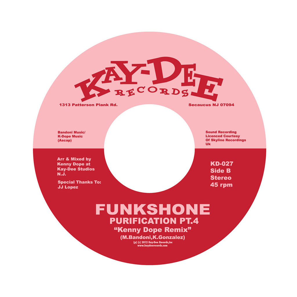 "<!--020120918003354-->Funkshone - 'Purification Pt. 3 (Kenny Dope Remix)/ Purification Pt. 4 (Kenny Dope Remix)' [(Black) 7"" Vinyl Single]"