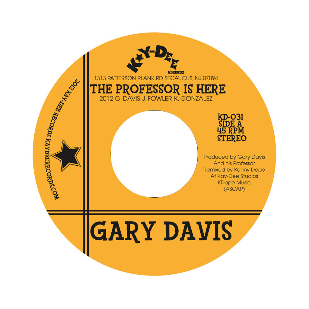 "Gary Davis - 'The Professor Is Here/ The Pop' [(Black) 7"" Vinyl Single]"