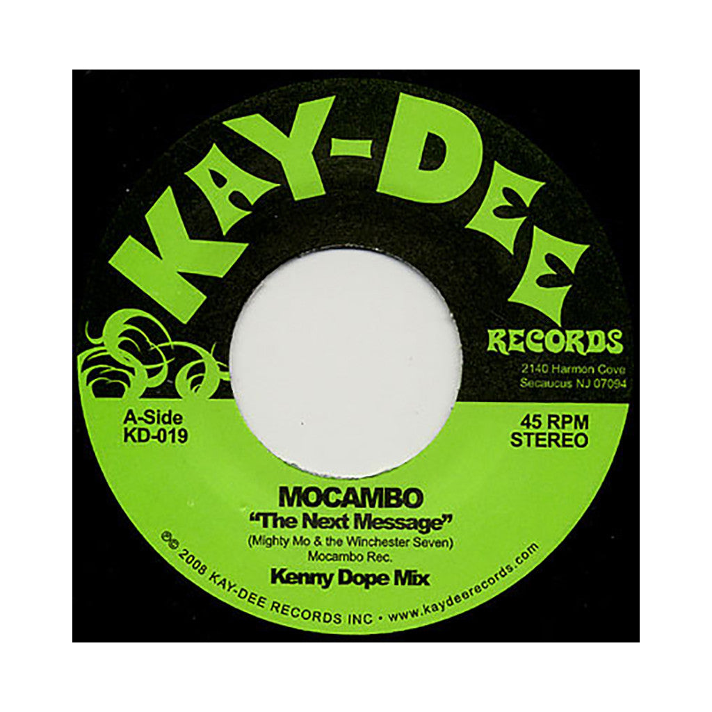 "<!--120090224016073-->Mocambo - 'The Next Message (Kenny Dope Mix)' [(Light Green) 7"" Vinyl Single]"