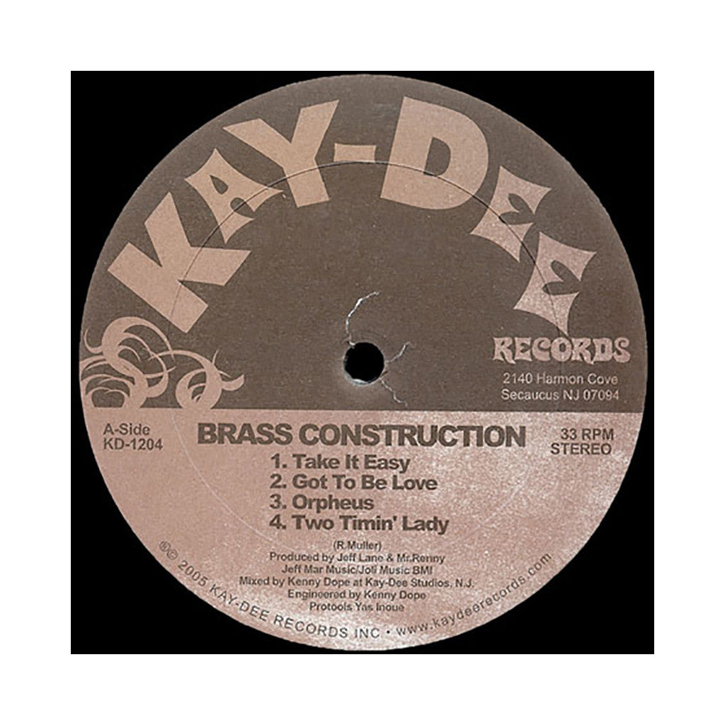 Brass Construction - 'Take It Easy (The Kenny Dope Mixes)' [(Black) Vinyl EP]