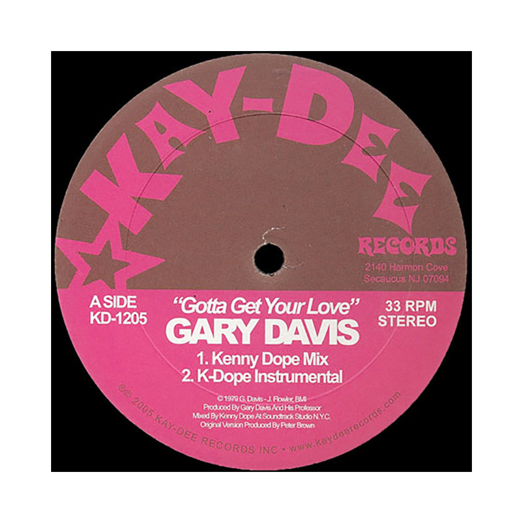 "<!--120050101003313-->Gary Davis - 'Gotta Get Your Love (Kenny Dope Mix)/ Gotta Get Your Love (Kenny Dope Dub)' [(Black) 12"""" Vinyl Single]"