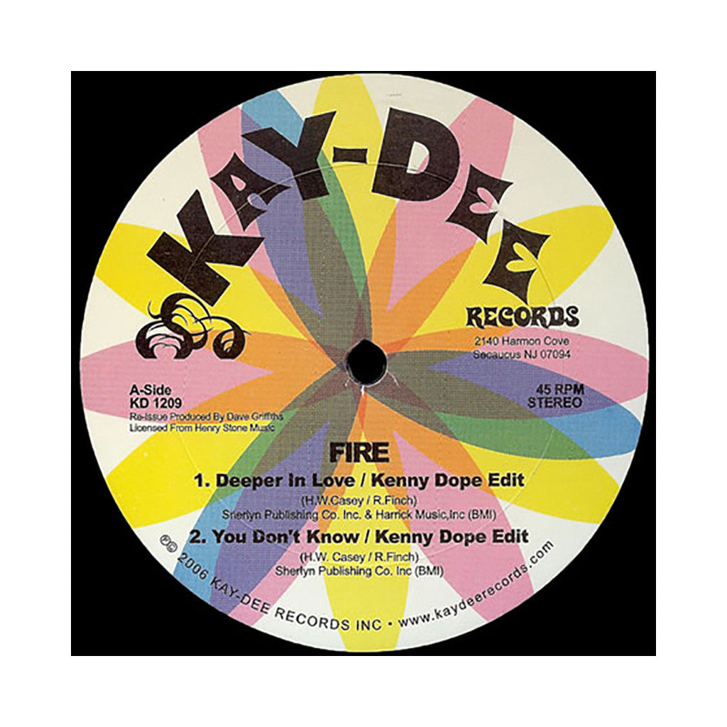 "<!--020060101003446-->Fire b/w Phillip Wright - 'Deeper In Love (Edit)/ You Don't Know (Edit) b/w Keep Her Happy (Edit)' [(Black) 12"""" Vinyl Single]"