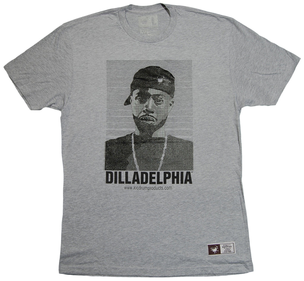 <!--2013080641-->KicDrum Products (J Dilla aka Jay Dee) - 'Dilladelphia' [(Gray) T-Shirt]